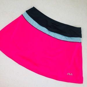 Fila Neon Pink Tennis Skirt Skort Shorts Size S